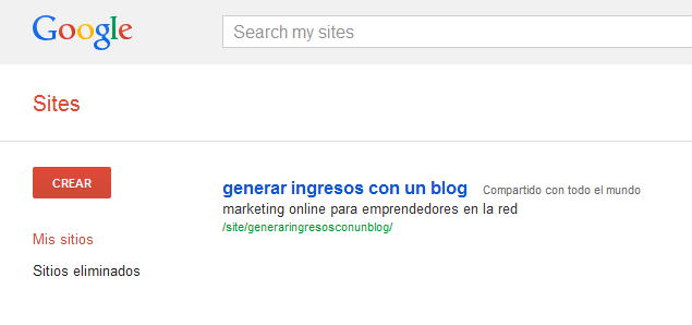 Cómo posicionar mi blog - Google Sites1