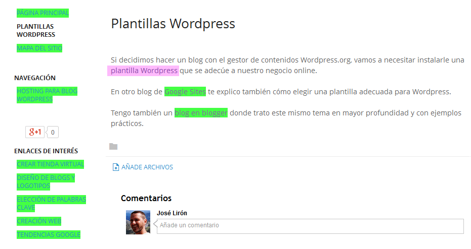 Cómo posicionar mi blog - Google Sites - enlaces follow y no follow