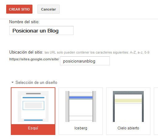 Cómo posicionar mi blog - Google Sites - titulo