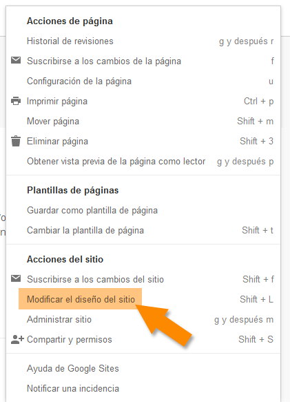 Cómo posicionar mi blog - Google Sites - acceso a la barra lateral